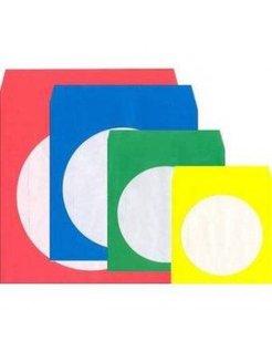CD-/DVD-Papier Hoezen Transparant Kleur 50 St