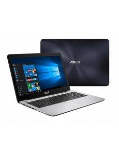 """ASUS R558UJ-XX069T 2.5GHz i7-6500U 15.6"""" 1366 x 768Pixels Blauw, Zilver (refurbished)"""