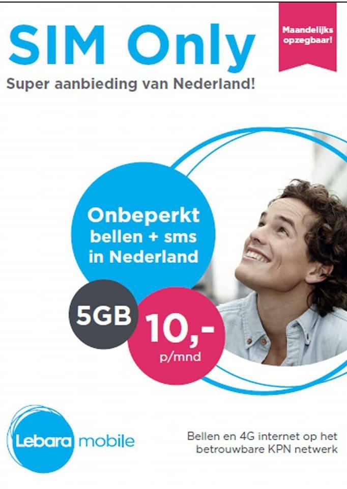 Lebara: Veel data voor weinig - Onbeperkt bellen 5GB Data