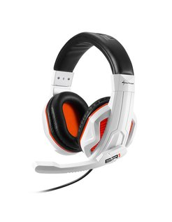 RUSH ER1 Stereofonisch Hoofdband Zwart, Wit hoofdtelefoon
