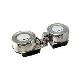 Scheepshoorn dubbel van RVS Mini Compact 12 Volt