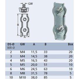 Duplex staaldraadklem RVS / Verpakking