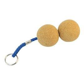 Kurk sleutelhanger met 2 ronde ballen