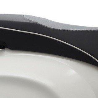 Vespa Buddyseat zwart met witte bies Vespa Primavera/Sprint origineel