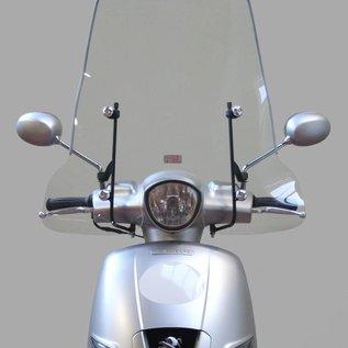 Peugeot Hoog windscherm zwarte beugels Peugeot Django origineel