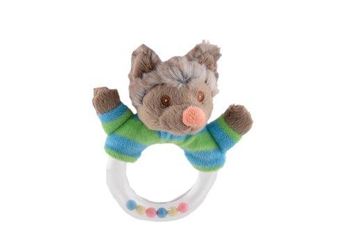 Knuffels van Bukowski Design Zweden Wolfy - Baby rammelaar