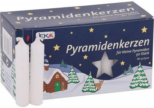 Pyramiden Kerzen Weiss