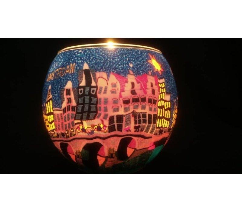 Leuchtglas Amsterdam Blumenmarkt