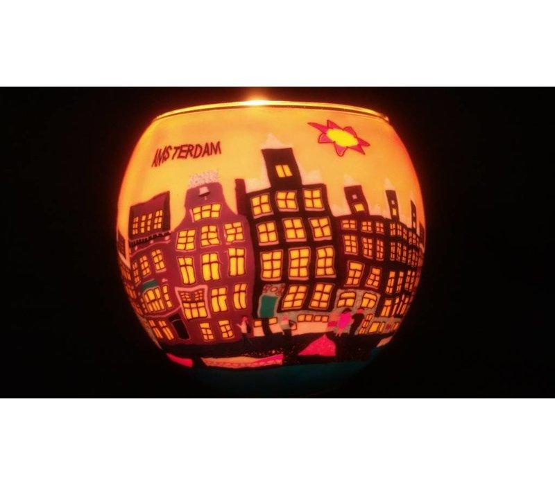 Windlicht Amsterdamse grachten