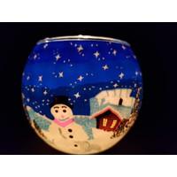 Windlicht  Sneeuwpop