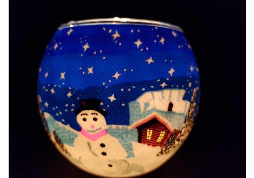 Leuchtglas Leuchtglas  Schneemann