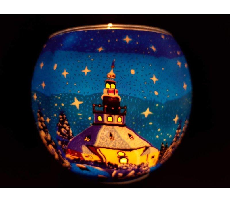 Leuchtglas  Kirche Seiffen