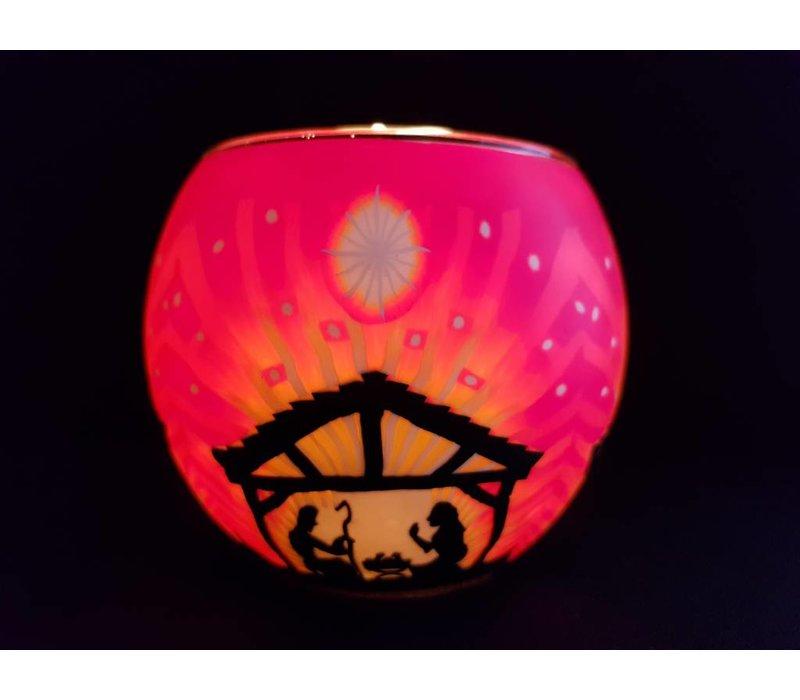 Leuchtglas  Nativity