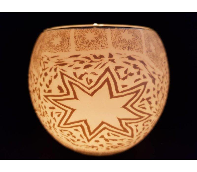 Leuchtglas  weisser Stern