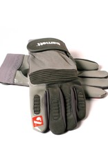 FKG-01 Football gloves for linebacker, with grip, grey