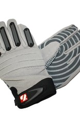 FKG-02 New generation linebacker football gloves, LB,RB,TE, grey