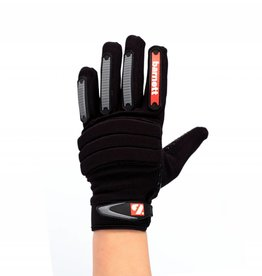 FKG-02 New generation linebacker football gloves, LB,RB,TE, black
