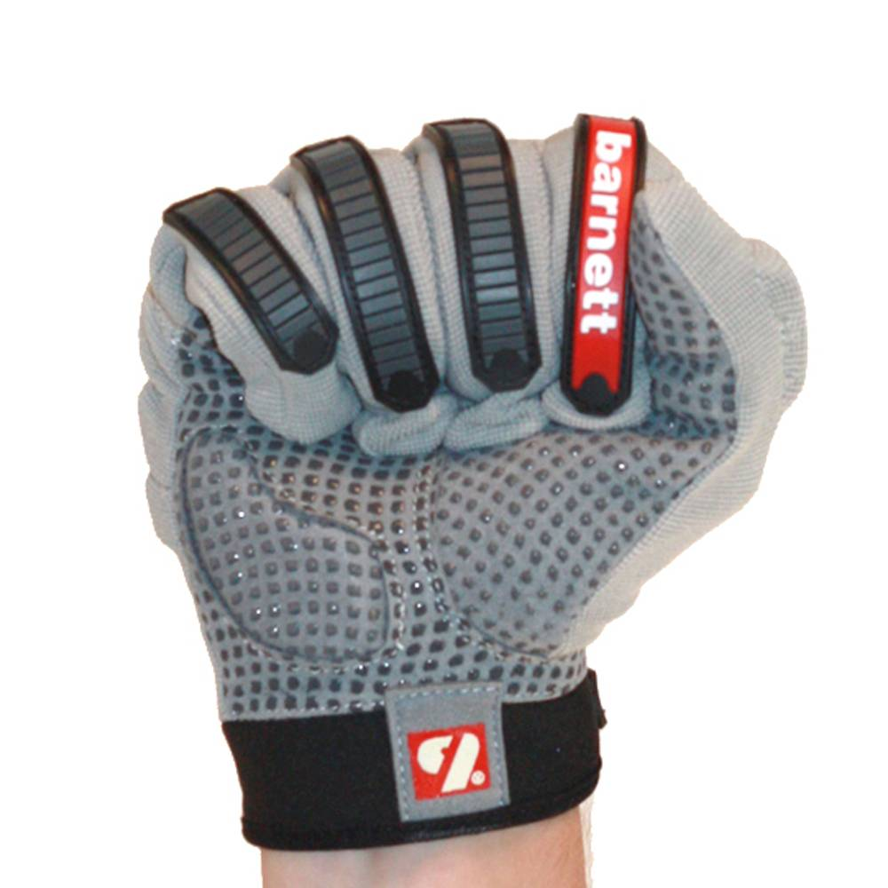 FLG-02 New generation linemen football gloves, OL,DL, grey