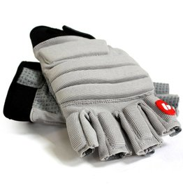 FLGC-02 New generation linemen football gloves, short fingers, OL,DL, grey