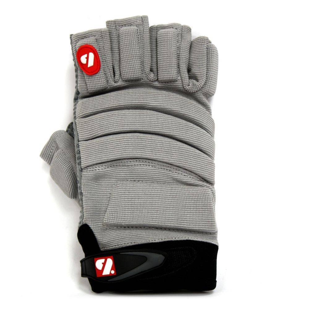 FLGC-02 New generation linemen football gloves, short fingers, OL,DL, grey