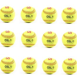 "OSL-1 High competition softball, size 12"", yellow, 1 dozen"