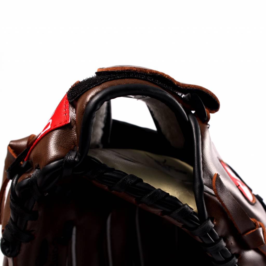 "JL-110 Composite baseball glove, Infield, Size 11"", Black"