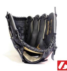 "JL-120 Vinyl baseball glove, Infield/Outfield, size 12"", Black"