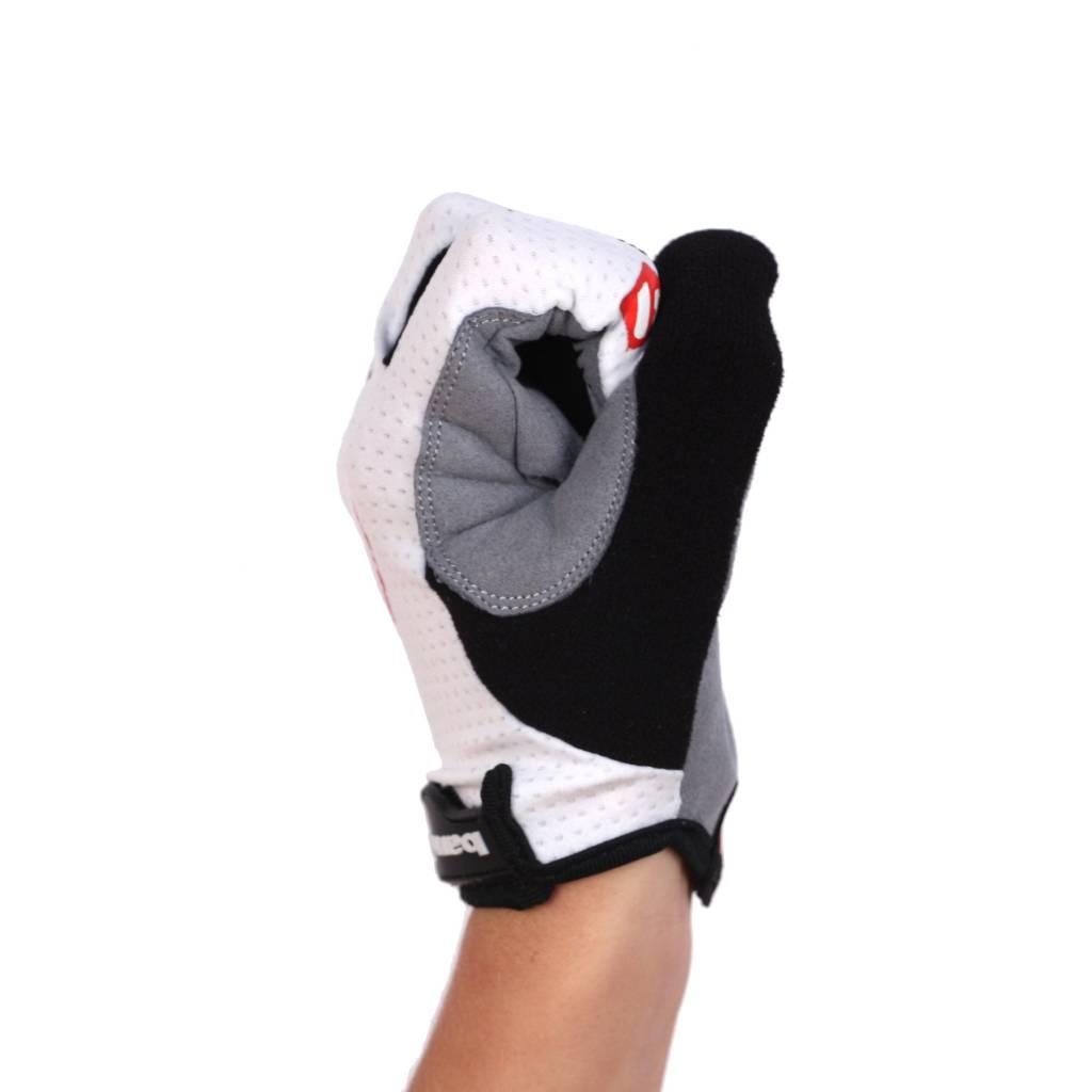 BG-01 Long bike gloves: Light, isolating, high-performance, White
