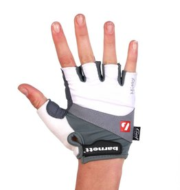 BG-06 Half finger bike gloves, competition, white