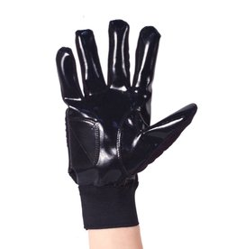 FKG-01 Football gloves for linebacker, with grip, black