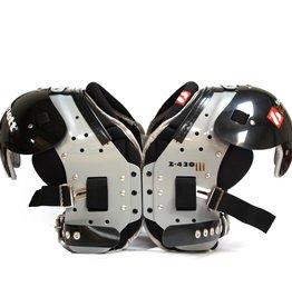 Z-430 III épaulière de football américain Elite light, noir   HB–FB–LB–TE-DL