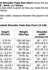 MARK I Football shoulder pad pro, QB-WR-DB