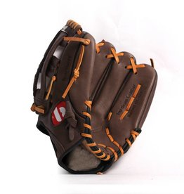 "GL-125 Competition baseball glove, genuine leather, outfield 12.5"", Brown"