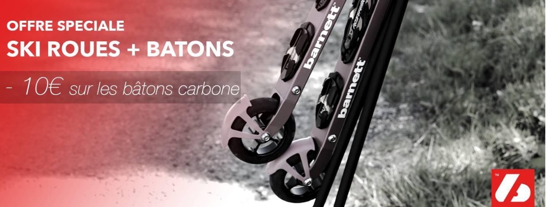 10€ de réduction sur l'achat d'une paire de ski-roues et de batons