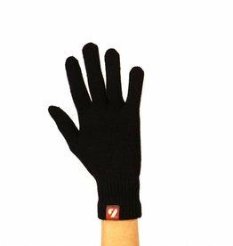 NBG-15 gants d'hiver en laine - ski de fond- running -5° /-10°, noir