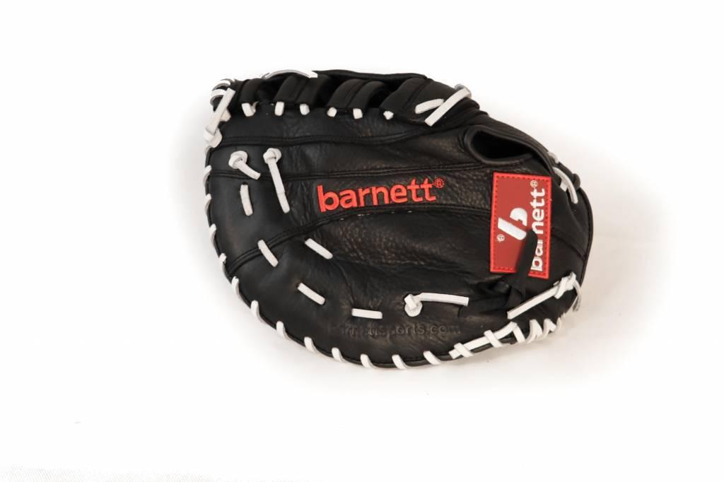 Barnett barnett GL-301 reg competition 1er baser baseball glove, genuine leather, adult, black