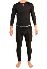 FKS-L Kit Maillot manches longues de compression + Pantalon 5 pièces intégrées, football américain