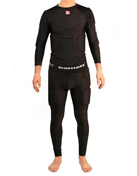 Barnett FKS-L Kit Compression pants, 5 integrated pieces + compression T-shirt with long sleeves, 5 integrated pieces, for American football