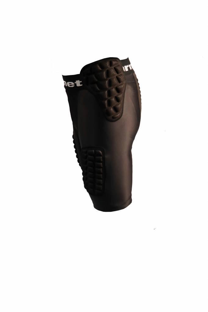 barnett FS-10 Short de compression renforcé, 5 pièces intégrées, football américain