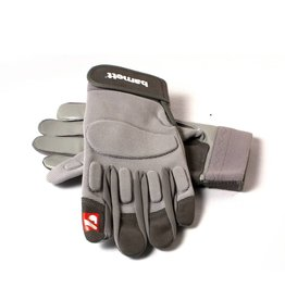 FLG-01 Football gloves for linemen, with grip, OL,DL, grey