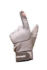 FLG-01 Football gloves for linemen, with grip, OL,DL, grey