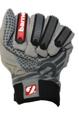 FKG-02 New generation linebacker football gloves, LB,RB,TE, grey