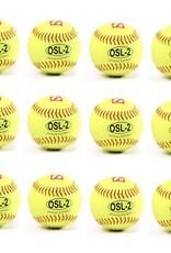 "OSL-2 Competition softball, size 12"", yellow, 1 dozen"