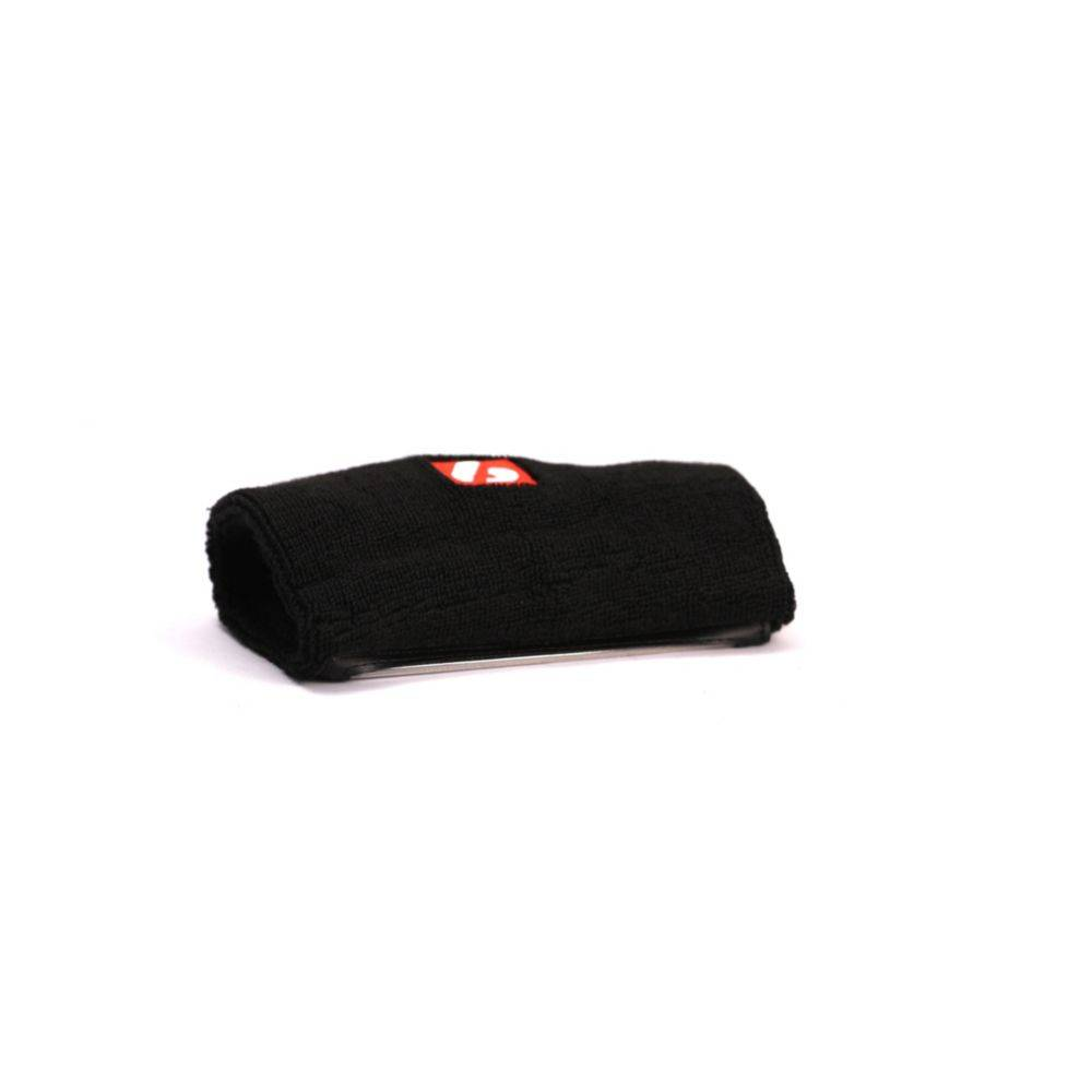 QB COACH Wrist sweatband, with transparent pocket