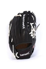 barnett GL-125 Competition baseball glove, genuine leather, outfield 12.5', Black