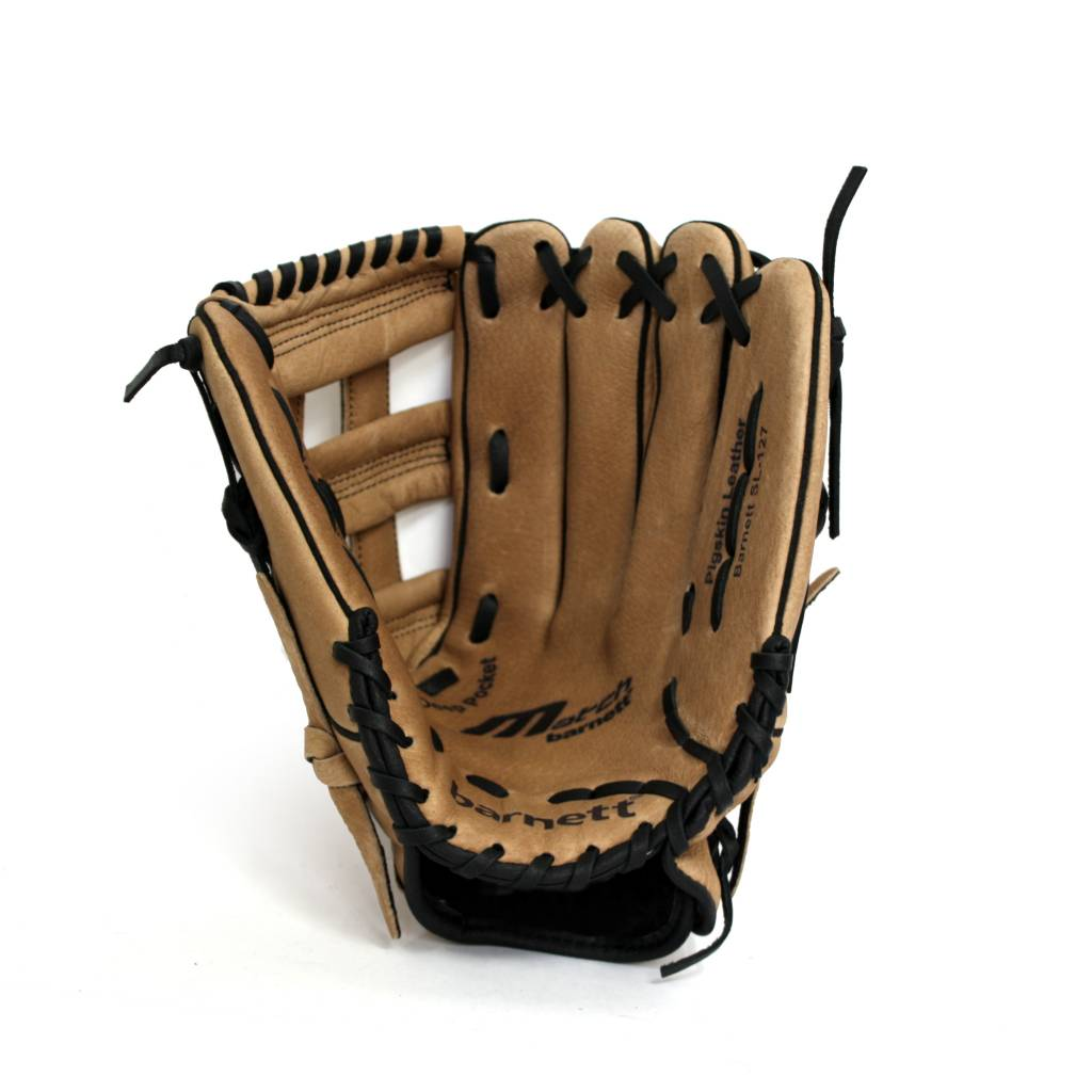 barnett SL-127 leather baseball glove, outfield, size 12.7'', Brown
