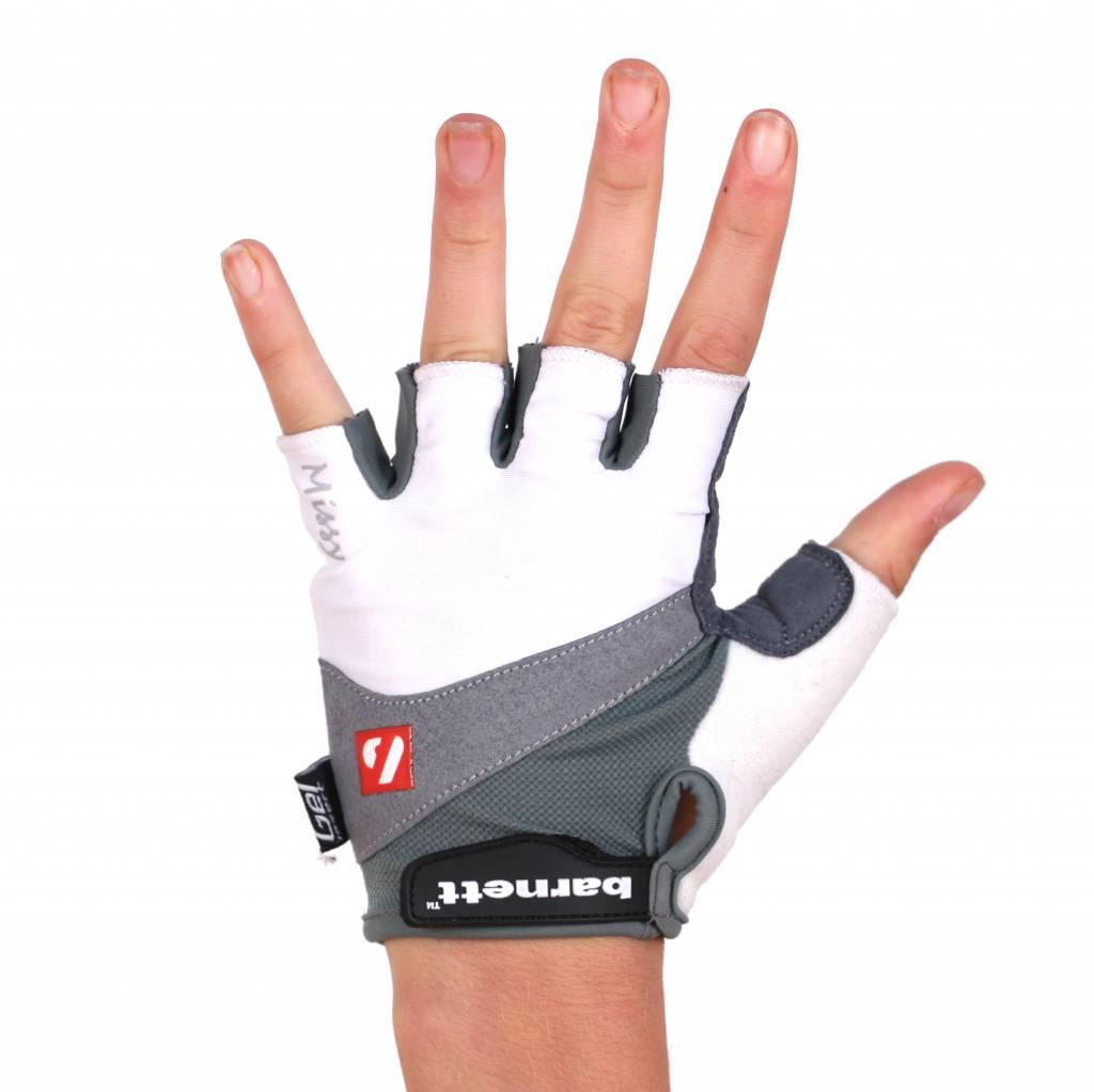 barnett BG-06 Half finger bike gloves, competition, White