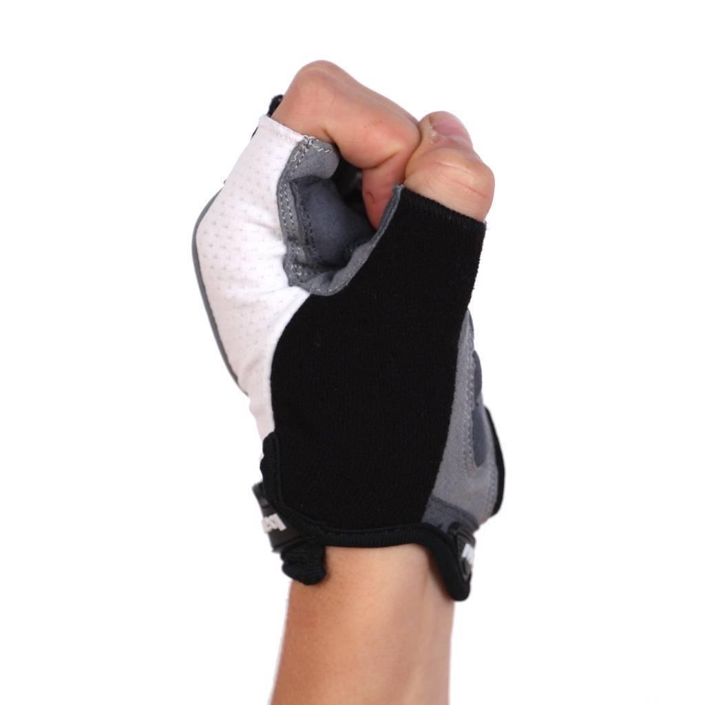 barnett BG-04 fingerless bike gloves for competitions, white