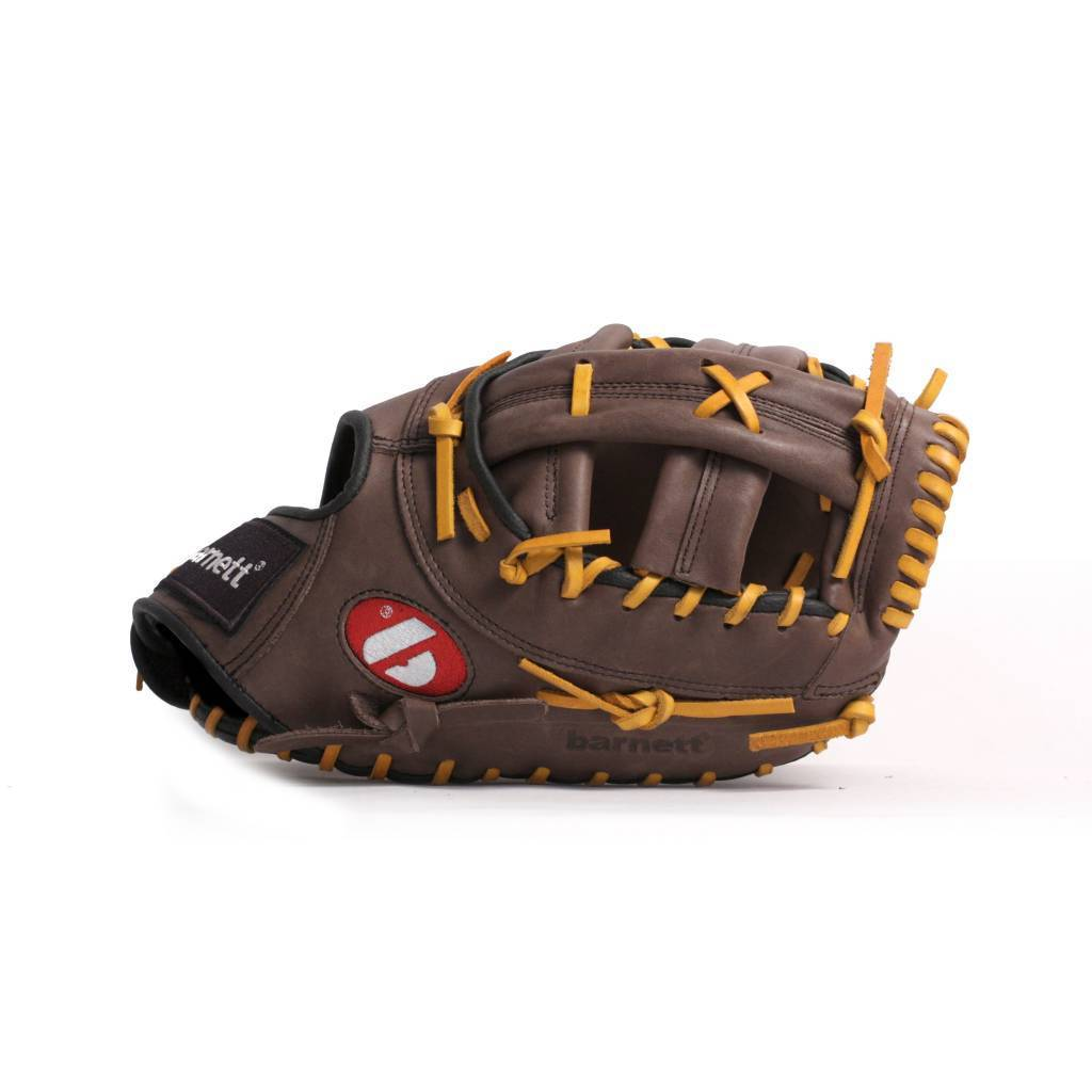"""GL-301 Competition first base baseball glove, genuine leather, size 31"""", Brown"""