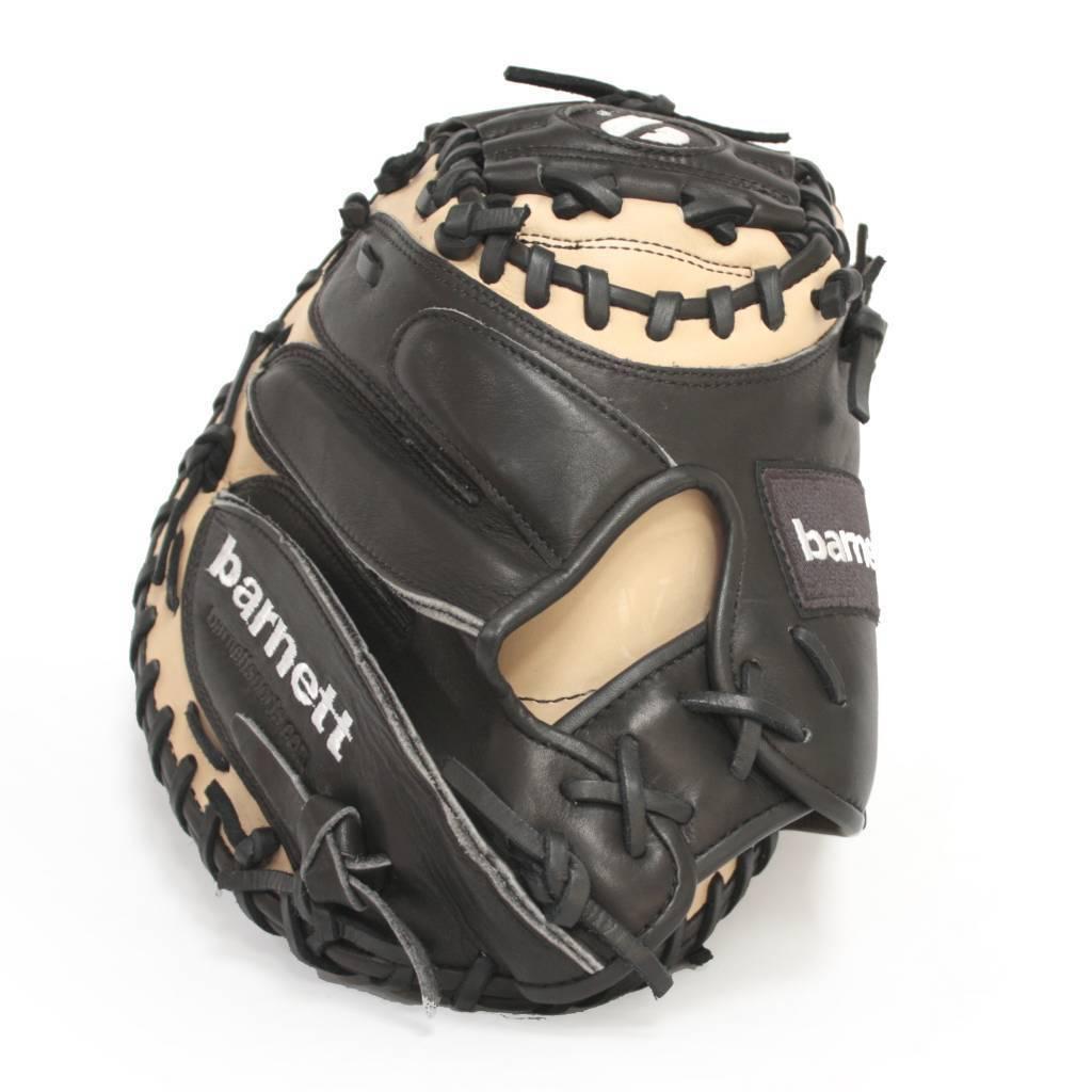 barnett FL-201 professional catcher baseball glove, full grain leather, adult, brown
